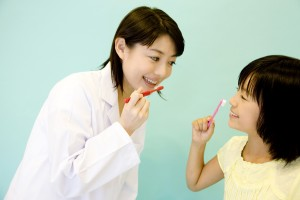 昭島市近くのきらら歯科の歯磨き指導
