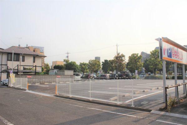 大型駐車場完成しました